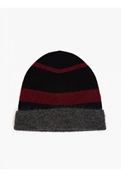 Maison Martin Margiela Striped Mohair Blend Beanie Hat