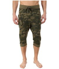 2Xist Athleisure Active Core Cargo Cropped Pants Olive Camo Men's Casual Pants Green