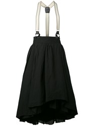 Aleksandr Manamis Layered Tulle Skirt Women Cotton Acetate Linen Flax I Black