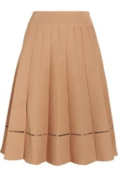 A.L.C. Nicole Embroidered Stretch Jersey Skirt Neutral