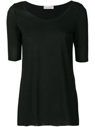 Le Tricot Perugia Basic T Shirt Black