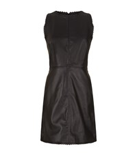 Reiss Sahara Leather Dress Female Black