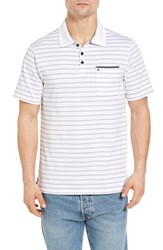 Hurley Men's Dixon Dri Fit Jersey Polo White