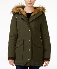 Levi's Faux Fur Trim Hooded Parka Greeen
