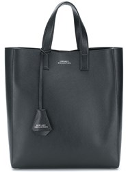 Versace Collection Printed Logo Tote Black
