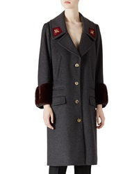 Gucci Wool And Mink Overcoat