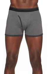 The Rail Heathered Boxer Briefs Charcoal Heather