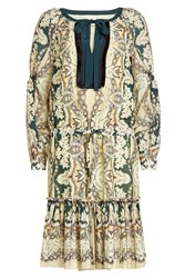 Etro Printed Mini Dress With Cotton And Silk