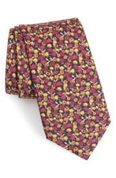Bonobos Summer Isles Floral Cotton And Silk Tie Blue