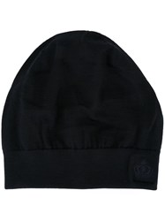 Dolce And Gabbana Embroidered Crown Beanie Blue