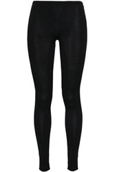 Valentino Woman Stretch Jersey Leggings Black