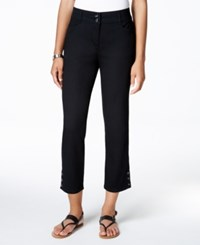 Charter Club Tummy Control Cropped Pants Only At Macy's Deep Black