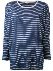 Fay Striped Shift Top Blue