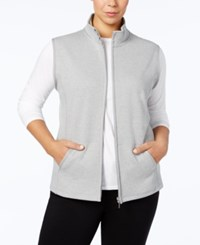 Karen Scott Plus Size Quilted Vest Created For Macy's Smoke Grey Heather