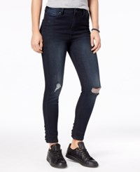 Celebrity Pink Juniors' Lace Up Ripped Skinny Jeans Stellar