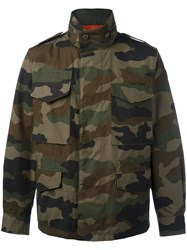 Moncler Camouflage Military Style Jacket Green