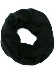 Label Under Construction Zipped Ring Scarf Black