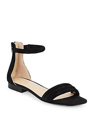 Saks Fifth Avenue Celine Suede Ankle Strap Sandals Black