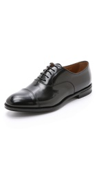 Doucal's Roma Cap Toe Oxford Shoes Nero