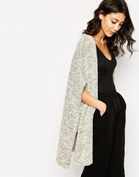 B.Young Oversized Long Line Cardigan White