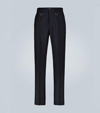Valentino Exclusive To Mytheresa Wool And Mohair Blend Pants Blue