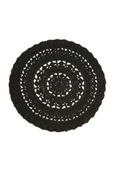 Lowie Black Crochet Organic Cotton Beret