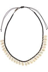 Isabel Marant Cotton And Shell Necklace White