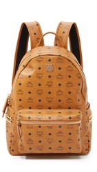 Mcm Stark Medium Side Stud Backpack Cognac