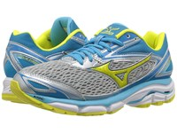 Mizuno Wave Inspire 13 High Rise Bolt Blue Atoll Women's Running Shoes Gray