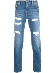 Love Moschino Distressed Jeans Blue