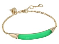 Alexis Bittar Id Curb Chain Bracelet Opaque Lime Clear Bracelet Green