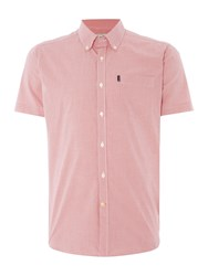 Barbour Triston Short Sleeve Gingham Shirt Raspberry