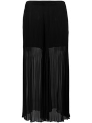 Armani Collezioni Pleated Detail Flared Pants Black
