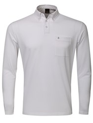 Oscar Jacobson Jasper Long Sleeved Polo White