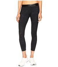 Monreal London Biker Leggings Black Suede Print