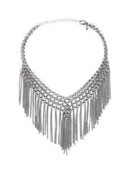 Jules Smith Designs Barb Chain Fringe Choker Silver