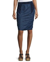 Xcvi Parisa Ruched Bottom Skirt Blue