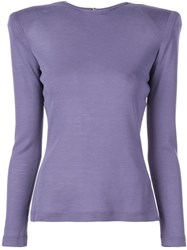 Christian Siriano Structured Shoulders T Shirt Purple