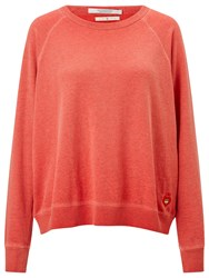 Maison Scotch Cold Dyed Sweatshirt Zoom Red Melange