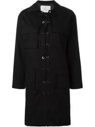 Carolinaritz Lace Up Shirt Dress Black