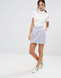 New Look Clean Cord A Line Skirt Mid Grey