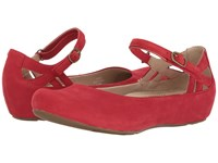 Capri Earthies Bright Red Soft Buck Women's Shoes