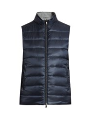 Herno Quilted Down Gilet Navy