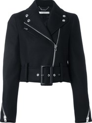 Givenchy Cropped Biker Jacket Black