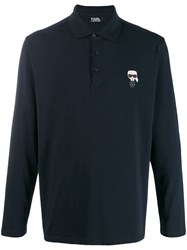 Karl Lagerfeld Ikonik Chest Patch Polo Shirt 60