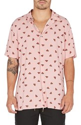 Barney Cools Holiday Woven Shirt Pink Watermelon