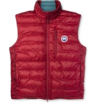 Canada Goose Lodge Packaway Down Filled Quilted Gilet Red