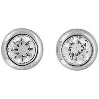 Jools By Jenny Brown Round Cubic Zirconia Pod Stud Earrings
