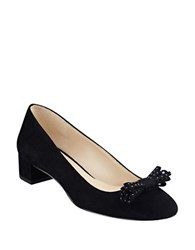 Nine West Elleah Suede Round Toe Pumps Black
