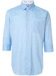 Loveless 3 4 Sleeve Shirt Blue